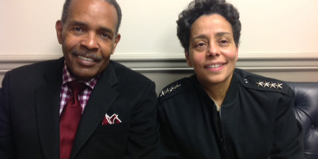 Joe Madison with Admiral Michelle Howard at Pentagon
