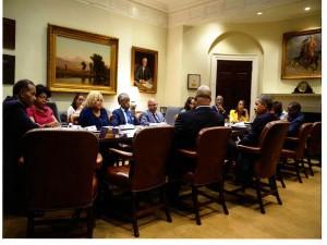 Joe Madison at the White House (1)